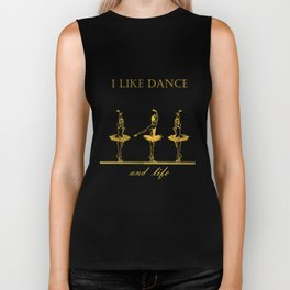 gold ballerinas . art Biker Tank