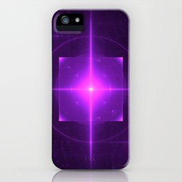 Purple Chakra Charging iPhone Case