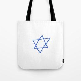 Star of David 16- Jerusalem -יְרוּשָׁלַיִם,israel,hebrew,judaism,jew,david,magen david Tote Bag