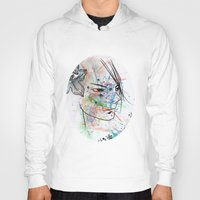 anime Hoodies featuring Anime 3  by Del Vecchio Art by Aureo Del Vecchio