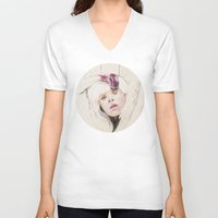 chandelier V-neck T-shirts featuring Chandelier by Dibujados