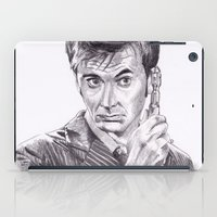 david tennant iPad Cases featuring David Tennant as Doctor Who by Kate Murray