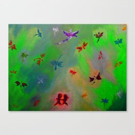 Dragonfly City Canvas Print