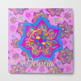 pink specked flowers - Bonnie Metal Print
