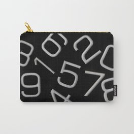 Silver numbers on black Carry-All Pouch