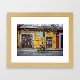 Antigua by bicycle Framed Art Print