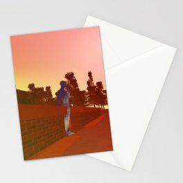 ALONE IN A WORLD FULL OF PEOPLE Stationery Cards