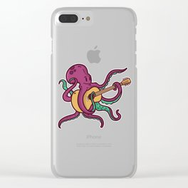 Guitar octopus Clear iPhone Case