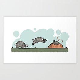 Bouncy Badger Art Print