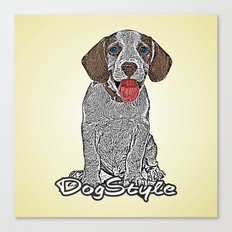 Dog Style Canvas Print