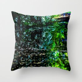 Old Pond in Spring Throw Pillow