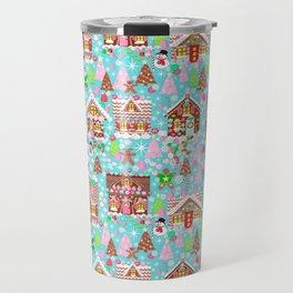 gingerbread Christmas Village Travel Mug