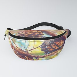 Autumn pine cones  #photography Fanny Pack