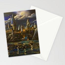 Castel at Starry night Stationery Cards