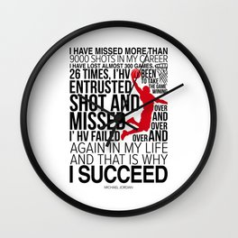 M. Jordan Motivation Wall Clock