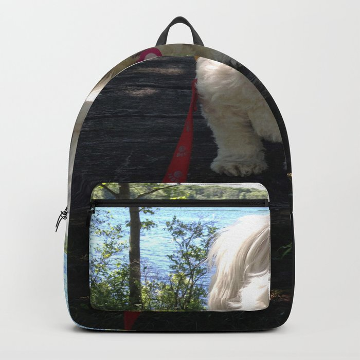 Puppy at the Lake Backpack