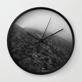 Las Virgenes Canyon Film Noir Wall Clock