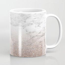 Marble sparkle rose gold Coffee Mug