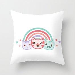 Cute cats Throw Pillow