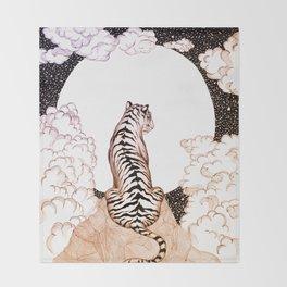 Tiger Moon Glow Throw Blanket