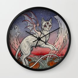 Spirits Of All Hallows Eve Wall Clock