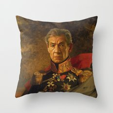 Sir Ian McKellen - replaceface Throw Pillow