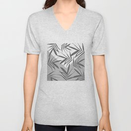 Envelope leaves decor. black. white. grey. 2. Unisex V-Neck