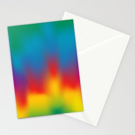 Abstract Colorful Aurora Stationery Cards