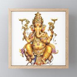 Ganesha - Hindu Framed Mini Art Print