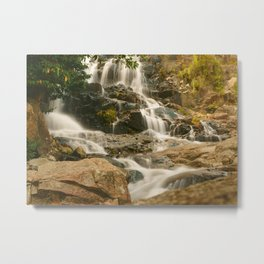Silky Cascading Waterfall Hong Kong Metal Print