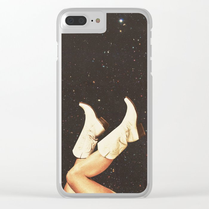These Boots - Space Clear iPhone Case