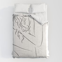 Mina curly hair Comforters