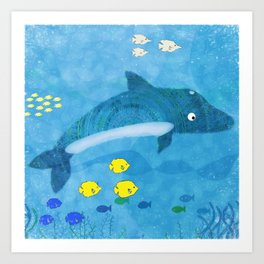 Dolphin Day Art Print
