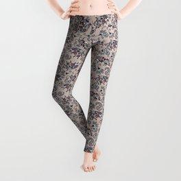 Ox Paisley (Mauve Pink Palette) Leggings