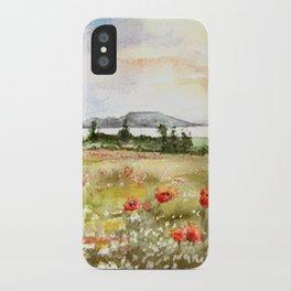 Poppies at the Lake Balaton iPhone Case