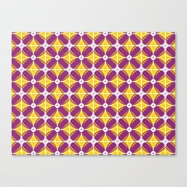 Plum marigold diamond tiles Canvas Print