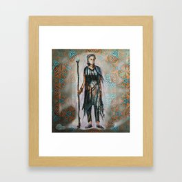 Wandering knight enchantress Framed Art Print