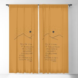 Tell The Story Of The Mountain You Climbed. Blackout Curtain