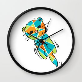 There's No Otter Like You - Cute Loving Otter - 57 Montgomery Ave Wall Clock