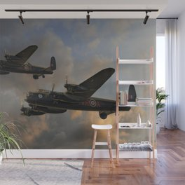 BBMF and Canadian Warplane Heritage Museum Lancasters Wall Mural