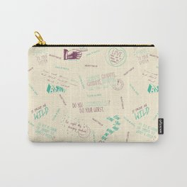 Doodlethrob (Tegan and Sara) creme Carry-All Pouch