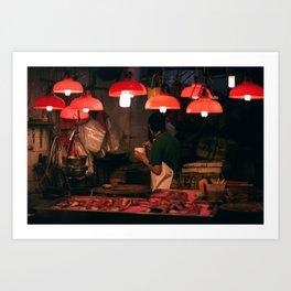 graham street market, hong kong Art Print