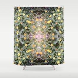 Orange Yellow Flower Fractal 2 Summer 16 Shower Curtain