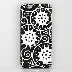 Black and White Swirl Pattern iPhone & iPod Skin