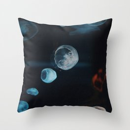 Jellyfish Cells (Color) Throw Pillow