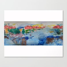 Little homes above Canvas Print