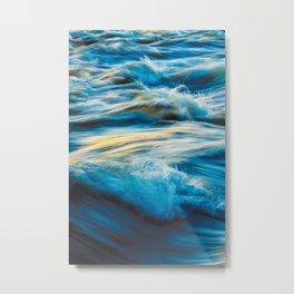 Blue Ocean Waves No2 Metal Print