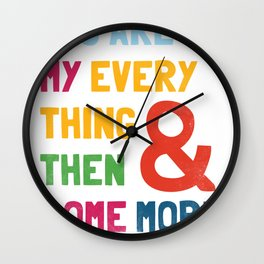& Then Some More Wall Clock