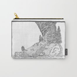 Fire on Foot Island Carry-All Pouch
