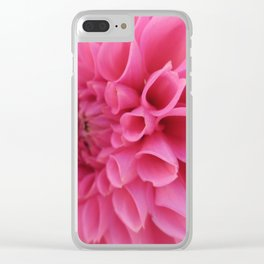 Pink Tunnels Clear iPhone Case